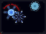Snowflakes Happy Holidays